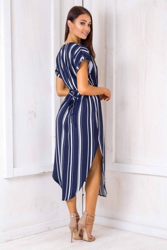 Pippa Dress- Navy Blue Stripe