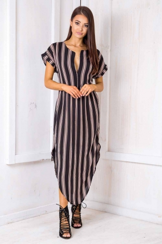 Pippa Dress- Black Stripe