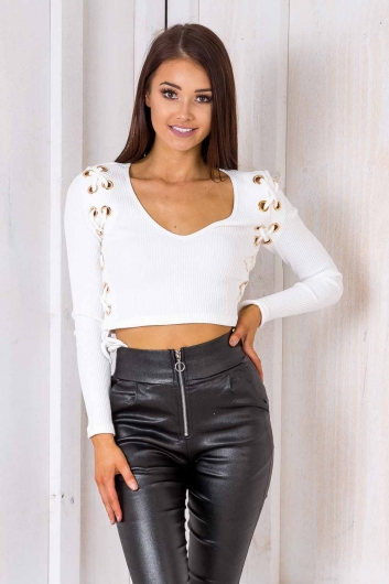 Tana Crop Top - White