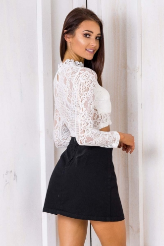 Night Lights Top - White Lace