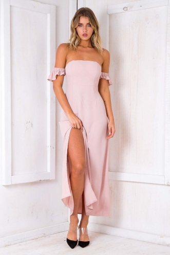 Split It Dress - Blush
