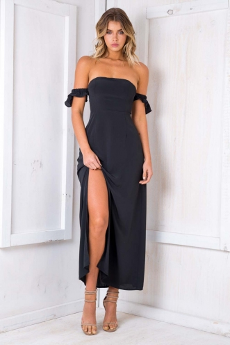 Split It Dress - Black