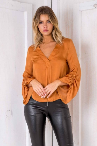 Girl Boss Top - Burnt Mustard