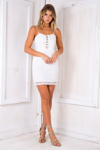 Always There Dress - White