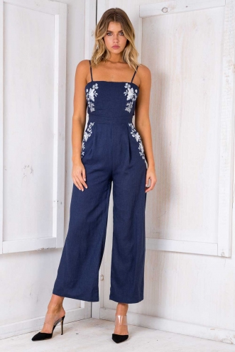 Monday Morning Jumpsuit - Navy