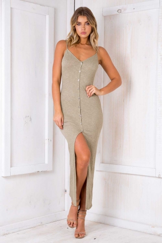 Got It Good Dress - Light Khaki