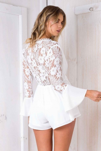 Unforgettable Playsuit - White