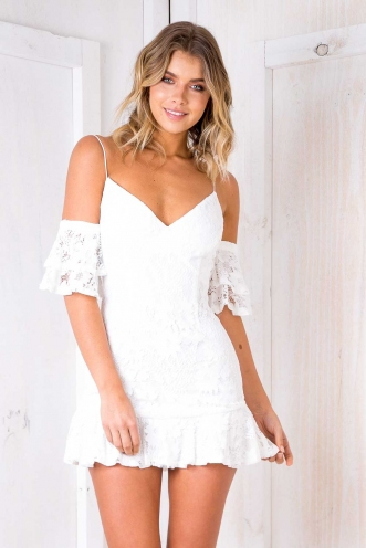 Just Dance Dress - White Lace