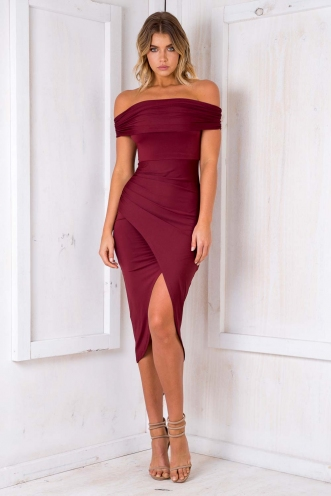 Mamma Mia Dress - Maroon