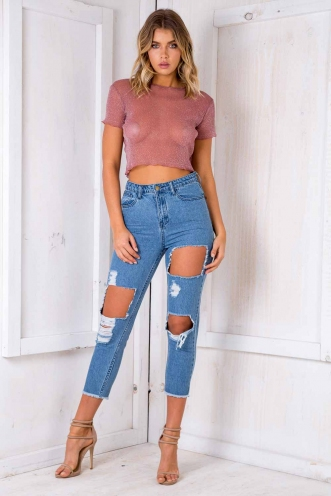 See You There Mesh Top - Pink
