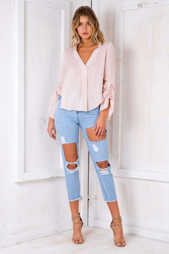 Girl Boss Top - Blush