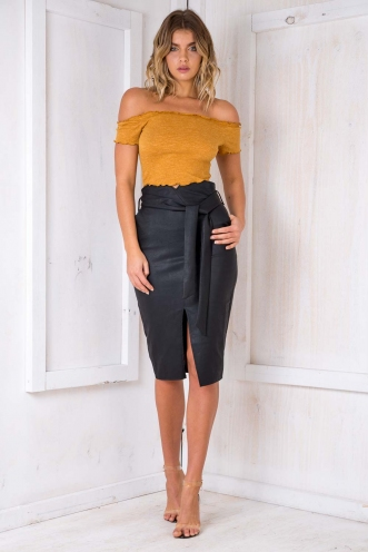 Walk This Way Skirt- Black