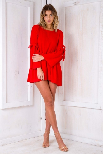 Cool Cats Dress - Red