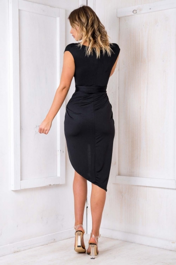 Tahlia Wrap Dress - Black