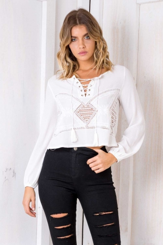 Banoffee Pie Top - White