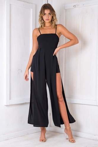 Knickerbocker Glory Jumpsuit - Black