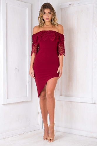 Sticky Toffee Pudding Dress - Maroon