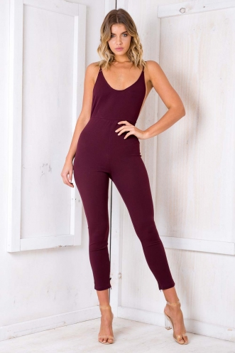 Battenberg Cake Jumpsuit - Purple