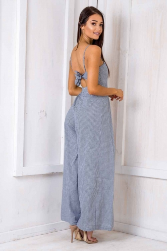 Spirit Walker Jumpsuit - Black/ White Chequered