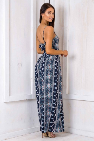 Spirit Walker Jumpsuit - Navy Pattern