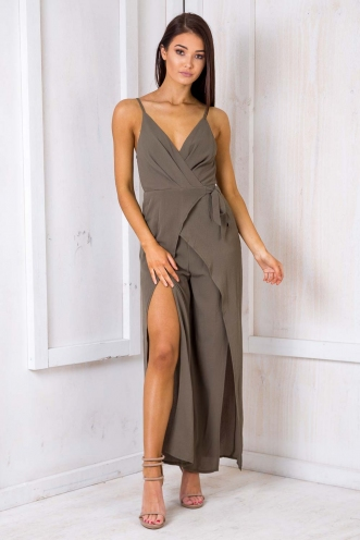 Loving You Jumpsuit - Khaki