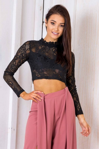 Night Lights Top - Black Lace