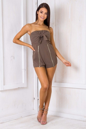 Boston Cream Pie Playsuit - Khaki