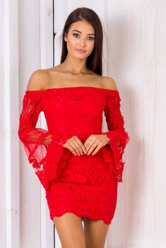 Crystal Cake Dress - Red