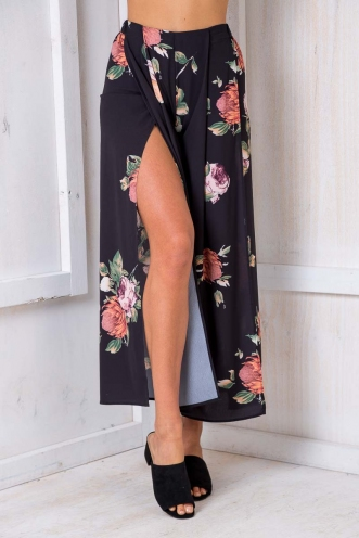 Sugar Plum Pants - Black Print