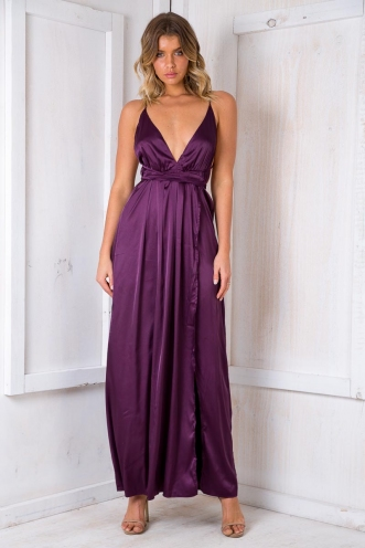 Agnes Floral Maxi Dress - Purple