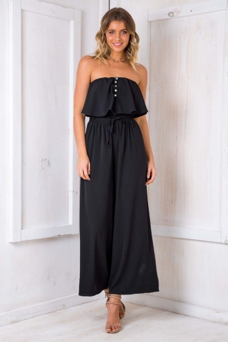 Date Square Jumpsuit - Black