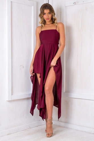 Gooey Butter Cake Dress - Maroon