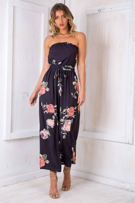 642a63b1f8e0 Party Nights Jumpsuit - Black Print. Loading zoom
