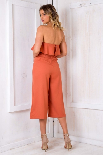 Natalia Jumpsuit - Burnt Ornage