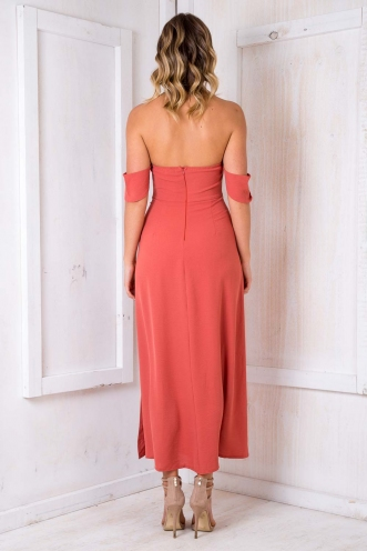 Hot Milk Cake Dress - Coral