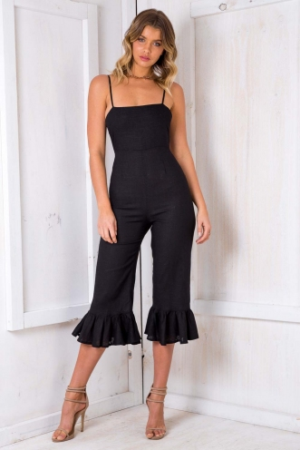 Dutch Carnival Cake Jumpsuit - Black