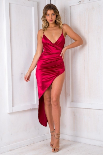 Funing Big Cake Dress - Maroon