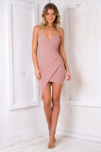 German Chocolate Cake Dress - Blush