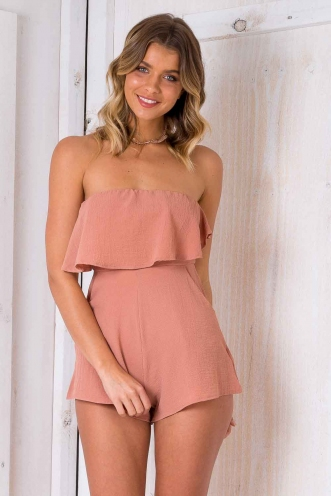 Cucumber Cake Playsuit - Nude