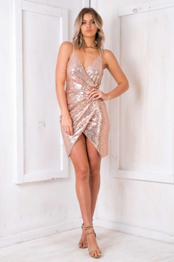 Opera Cake Dress - Gold Sequin