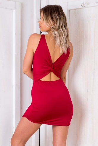 Sesame Seed Cake Dress - Maroon
