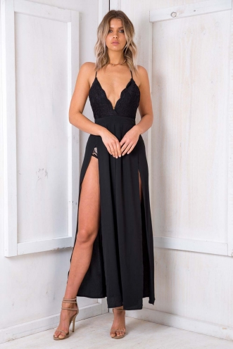Smith Island Cake Dress - Black