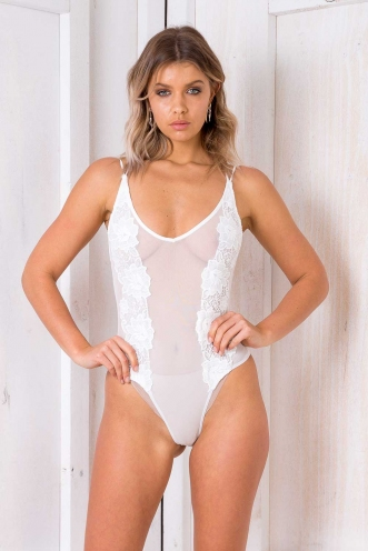 Raisin Cake Bodysuit - White