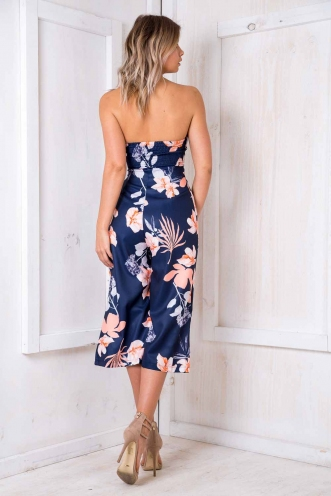 Lotus Jumpsuit - Navy Floral