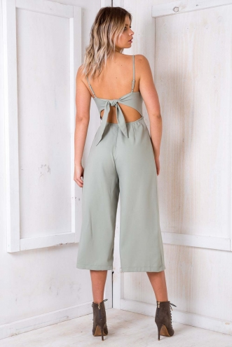 Molten Chocolate Cake Jumpsuit - Light Khaki