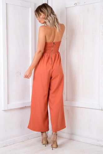 Magdalena Jumpsuit - Burnt Orange