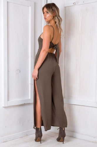 Knickerbocker Glory Jumpsuit - Khaki