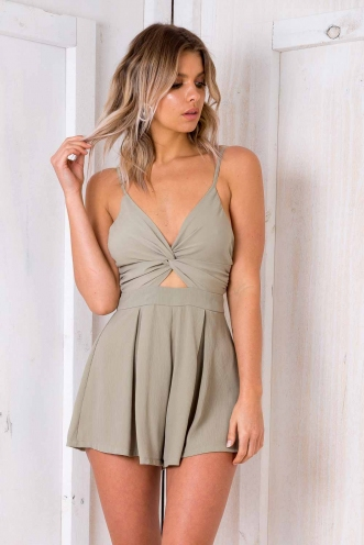 Vínarterta Playsuit - Light Khaki