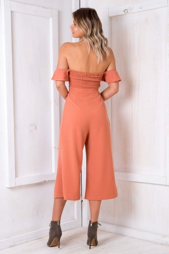 Wedding Cake Jumpsuit - Peach