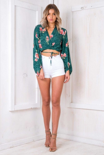 Rum Cake Top - Green Floral